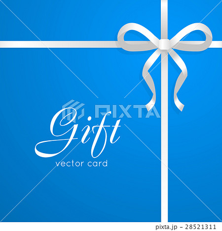 Gift vector card narrow long white bow on blue gift vector card narrow long white bow on blue negle