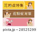 花粉症 バナー セットのイラスト 28525299
