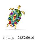 動物 かめ カメのイラスト 28526910