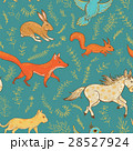 seamless pattern with cute animals and plants 28527924