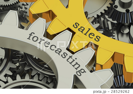 sales forecasting concept on the gears 28529262