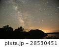 天の川 摩周湖 シルエットの写真 28530451