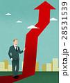 矢 矢印 ビジネスマンのイラスト 28531539