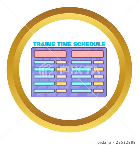 schedule time of trains vector iconのイラスト素材 28532888 pixta