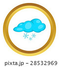 Snow and cloud vector icon 28532969