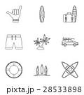 サーフボード アイコン イコンのイラスト 28533898