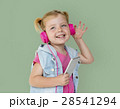 Little GIrl Smiling Happiness Music Headphones 28541294