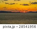 夕焼け 関門海峡 海の写真 28541956