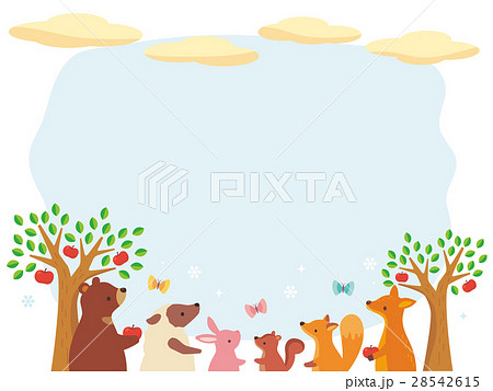 動物と空のイラスト 28542615