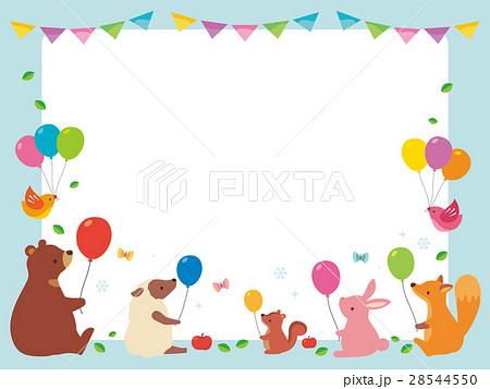 風船を持つ動物たち 28544550