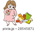 肥満 女性 メタボのイラスト 28545871