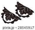 柏餅 端午の節句 水墨画のイラスト 28545917