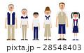 ベクター 6人家族 三世代のイラスト 28548403