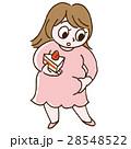 肥満 女性 メタボのイラスト 28548522