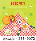 夏 ピクニック バスケットのイラスト 28549072
