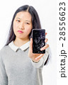 壊れる 携帯電話 ひび割れの写真 28556623
