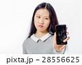 壊れる 携帯電話 ひび割れの写真 28556625
