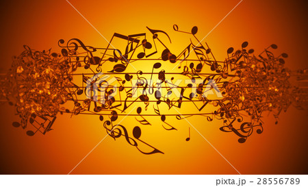 Abstract Background with Colorful Music notes. 28556789