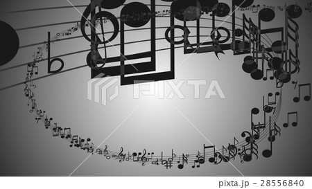 Abstract Background with Colorful Music notes. 28556840
