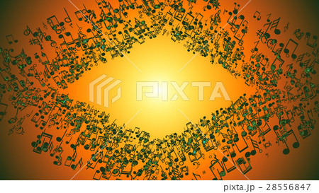 Abstract Background with Colorful Music notes. 28556847