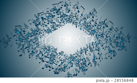 Abstract Background with Colorful Music notes. 28556848
