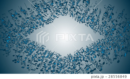 Abstract Background with Colorful Music notes. 28556849