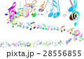 Abstract Background with Colorful Music notes. 28556855