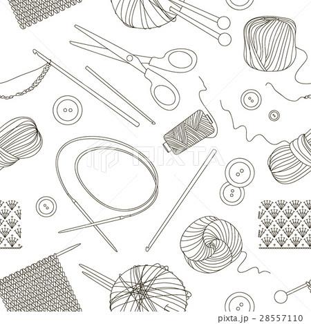 Knitting and crochet set patternのイラスト素材 [28557110] - PIXTA