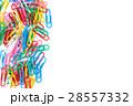 ペーパークリップ クリップ カラフルの写真 28557332