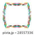 ペーパークリップ クリップ カラフルの写真 28557336