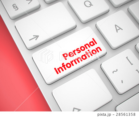 personal information text on the white keyboardのイラスト素材