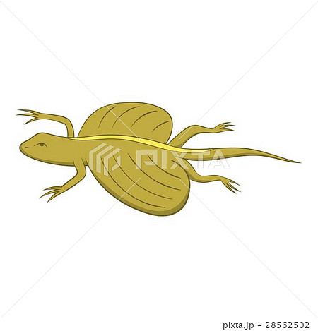 Flying dragon lizard icon, cartoon style 28562502