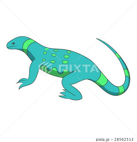 Blue lizard icon, cartoon style 28562513
