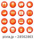 Cinema icons vector set 28562863