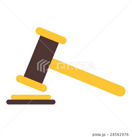 Judge gavel icon, flat styleのイラスト素材 [28562976] - PIXTA