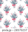 Bouquet. Flowers and bow. Seamless floral pattern  28570237