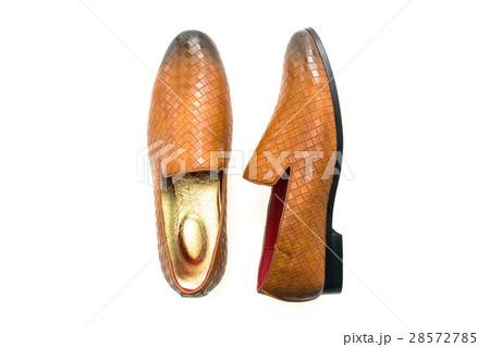 Brown leather shoesの写真素材 [28572785] - PIXTA