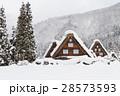 岐阜_白川郷雪景色 28573593
