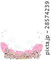 花見 コピースペース 桜のイラスト 28574239