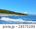富士山 青空 海の写真 28575289