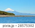 富士山 青空 海の写真 28575302
