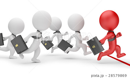 3d small people - business sprint 28579869