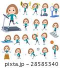 女性 若い 運動のイラスト 28585340