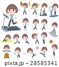 女性 若い 運動のイラスト 28585341