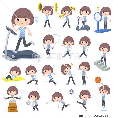 Mash hair blue wear woman Sports & exercise 28585341