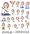 女性 若い 運動のイラスト 28585342