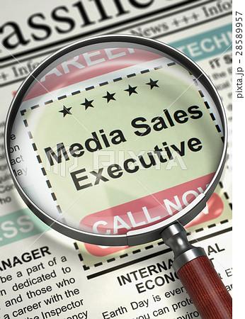 we re hiring media sales executive 3d のイラスト素材 28589957 pixta