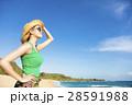 ビーチ 浜辺 女の写真 28591988