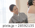 帯祝い 腹帯 妊婦の写真 28592135