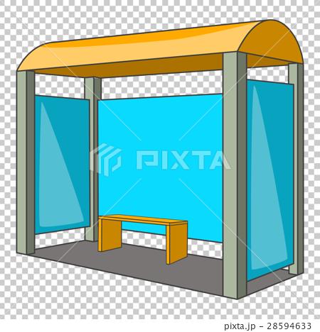 Bus stop icon, cartoon style - ภาพประกอบสต็อก [28594633] - PIXTA